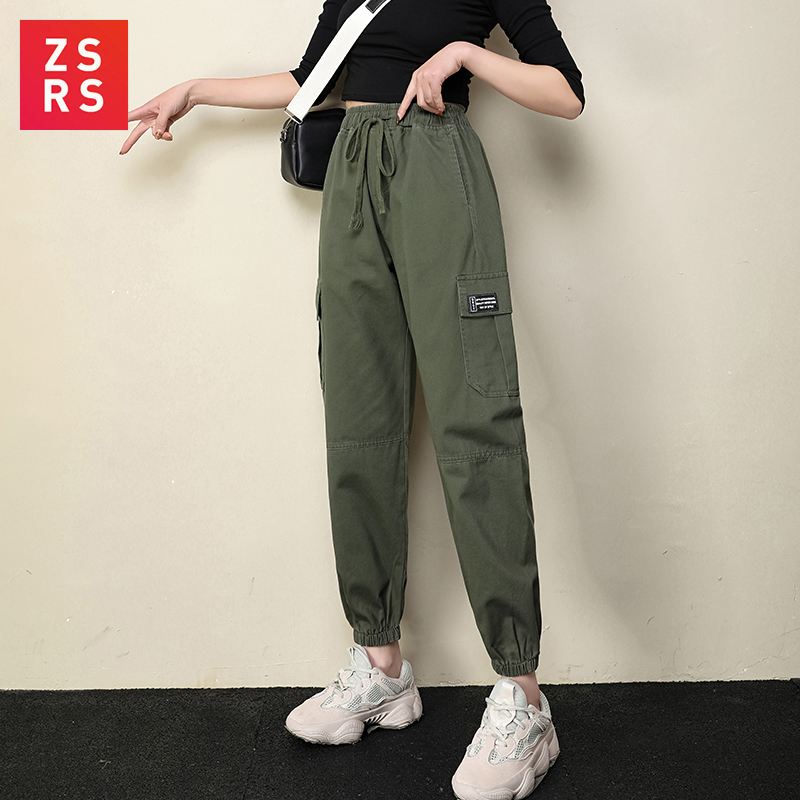 ZSRS Women In Overalls Legs French Handsome Korean Version Loose And Slim Harun's New Sports Pants For Autumn 2019