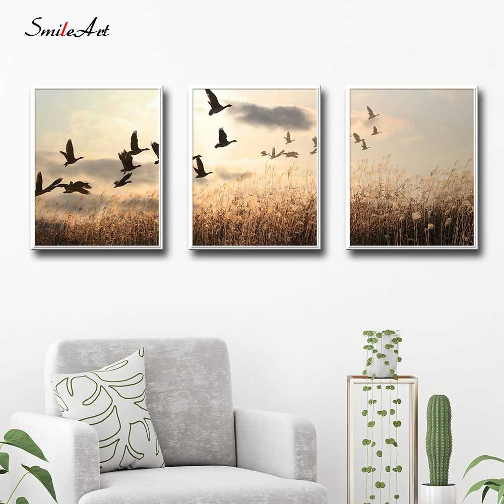 Modern Style Scenery Posters Canvas Art Painting Wall Nursery Decorative Picture Nordic Kids Deco