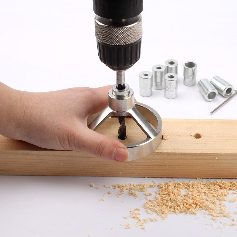 Profession 90 Degree drill guide Hole Jig Puncher Wood Working Locator Adjustable hand tool set