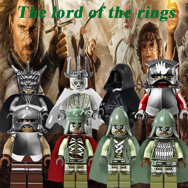 The Hobbit Lord Of The Rings Ring Wraith King Mordor Orc Uruk Hai Legoinglys Captain Guard Building Blocks Children Toys PG8036
