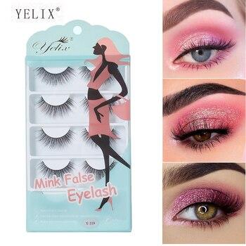 Yelix 5 Pairs False Eyelashes Natural Makeup 3d Mink Lashes Long Wispy /Natural/Fluffy Reusable Eye Lashes faux cils
