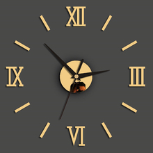Modern Office Fashion 3D Stickers Decoration For Home DIY Roman Numerals Mirror Quartz Wall Clock Removable Art Living Room 3pcs set 3d removable room decoration wall stickers