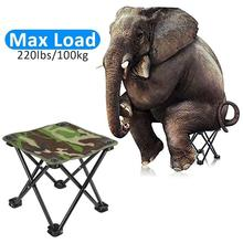 Iron Portable Sturdy Camouflage Folding Chair Portable Folding Stool Folding Chair BBQ with Carry Bag Camping Fishing