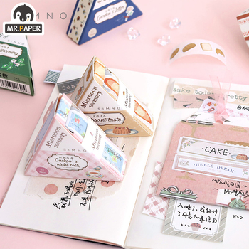 Mr Paper 20pcs/lot Cute Stationary Stickers Tape  Creative Bullet Journal Stationery School  Office Scrapbooking Deco Stickers mr paper 4 designs 100pcs lot animal daily deco washi diary stickers scrapbooking planner bullet journal doodling stationery