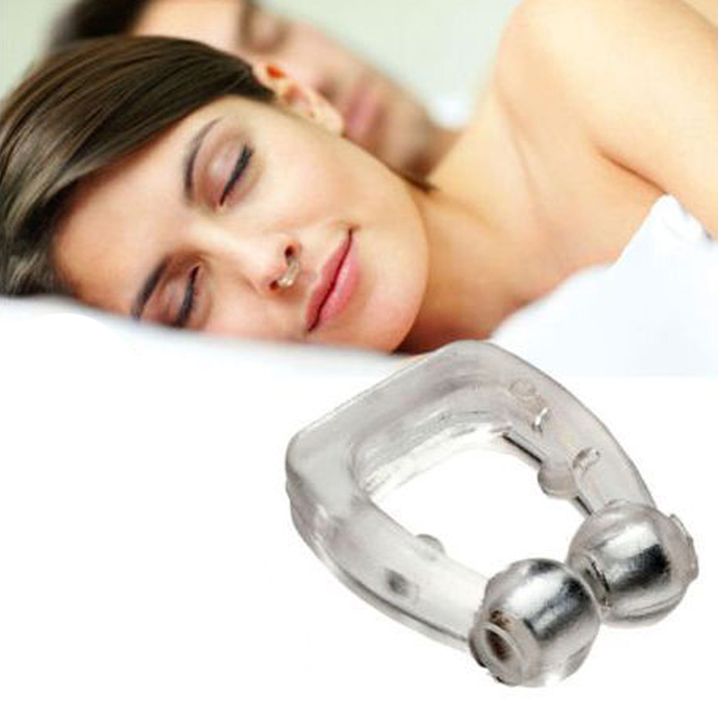 1 Pcs Portable Silicone Snoring Nose Clip Sleeper Mini Snoring Device Snoring Device Help Quiet Sleep Snoring Device Opp Bag