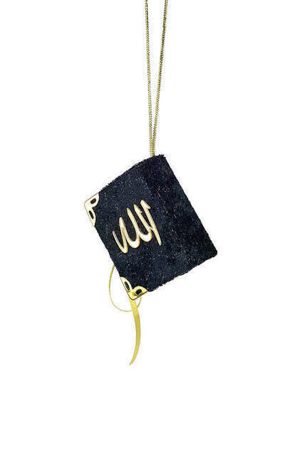 Velvet Islamic Mini Quran The Holy Book Pendant Necklaces For Koran  Quran Book Real Paper Small Religious Jewelry for Muslims