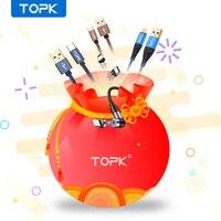 TOPK 0,5 m 1m Abstand Micro USB Typ C Kabel Schnelle Ladung Ladekabel für iPhone 12 11 Pro 7 8 Max Xiaomi Handy Kabel