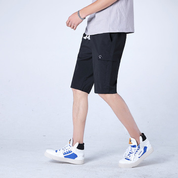 2019 Summer Men Shorts Casual Man Solid Color Prints Slim Style Plus Size Male Shorts
