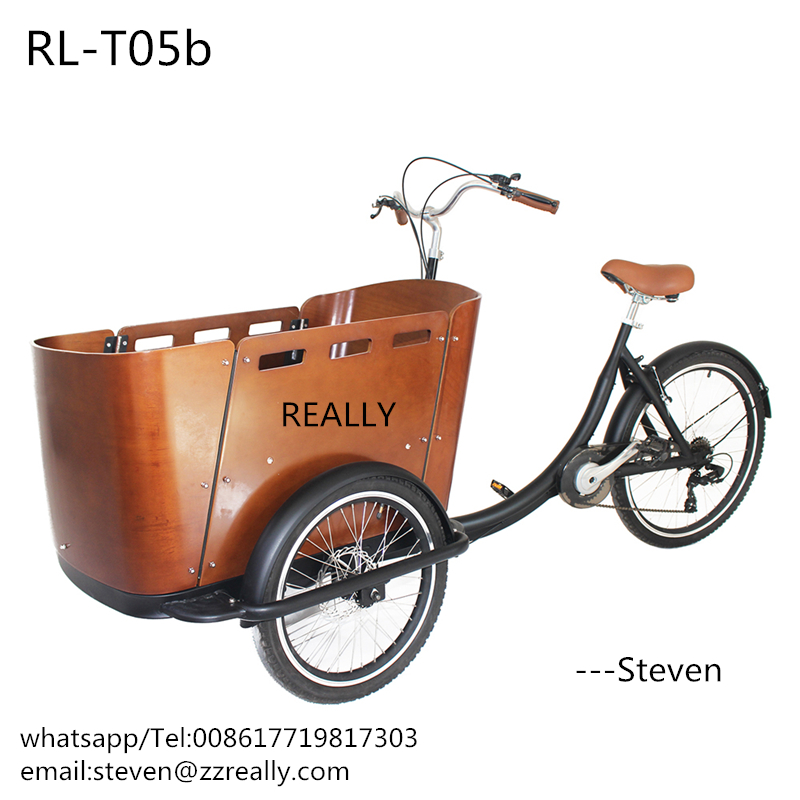 RL-T05 3 Wheels Bike Trike Tricycle Children Bike Cargo Bicycle Shopping Bike Family Used Cart