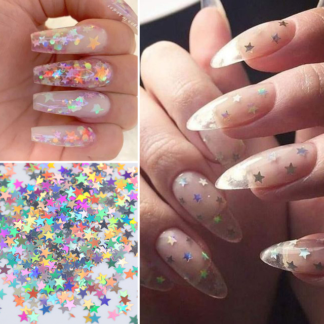 1 Bag Gradient Holographic Star Nail