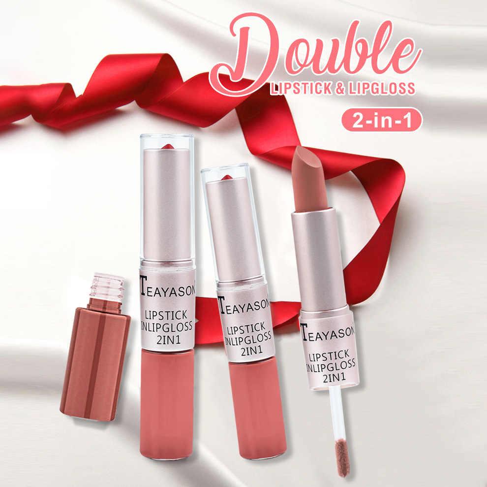 Seksi Anggur Merah Bibir Pensil Matte Lipliner Tahan Air Halus Warna-warni Sutra Nude Lipstik Pena Tahan Lama Pigmen Makeup Bibir
