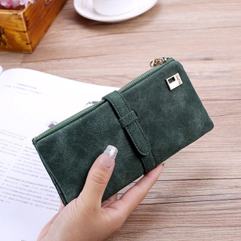 Drop Shipping Hot 2020 New Fashion Women Long Wallet Large Wallets Female Purse Lady Purses Phone Pocket Card Holder