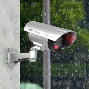 Image 4 - Sztuczna kamera manekina wodoodporna kamery monitoringu bezpieczeństwa CCTV aparat z diodą Led światła na zewnątrz kryty imitacja aparatu