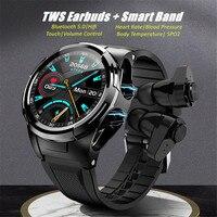 Auricolari Bluetooth auricolare Smart Watch pressione sanguigna Tws bracciali Fone De Ouvido auricolari spedizione gratuita Hifi auricolari Band