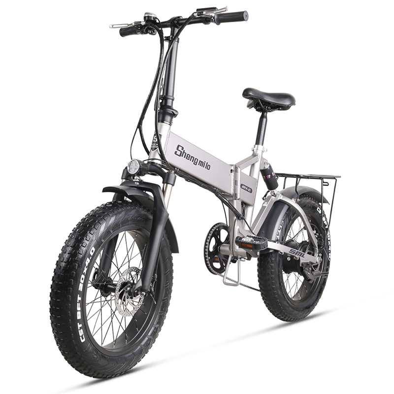 Electric Bike 500W City Bike Folding  Electric Bicycle Electric Mountain Bike 20 inch 4.0 Fat Tire ebike  48V Lithium Battery 1