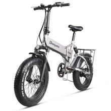 Elektrikli bisiklet 500W şehir bisikleti katlanır elektrikli bisiklet elektrikli dağ bisikleti 20 inç 4.0 yağ lastik Ebike 48V lityum pil