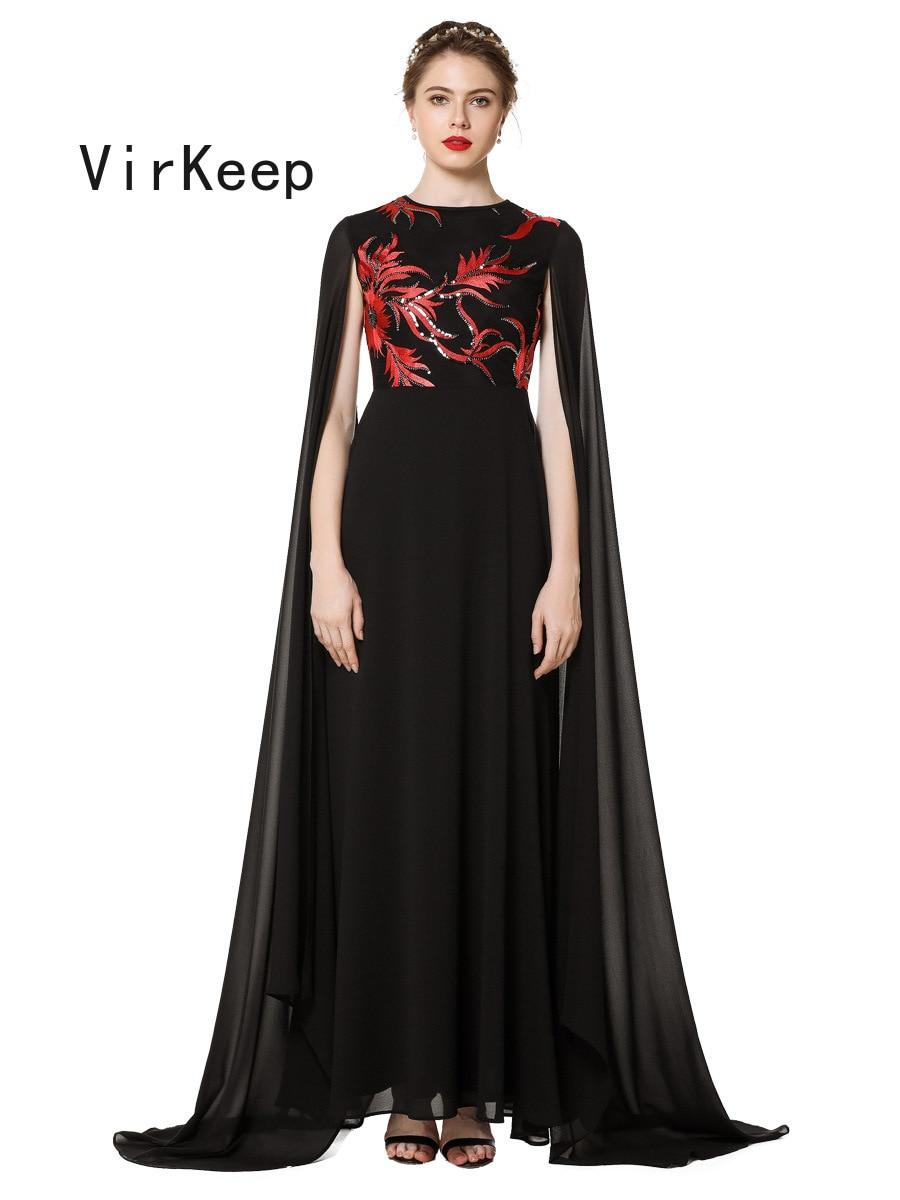 women Floral sequined evening party dress fashion chiffon robe Islamic Dubai gown Arab Moroccan Fashion muslim Abaya VKDR2488 4
