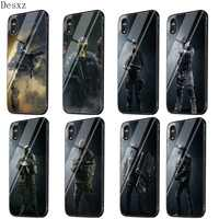 Mobile Phone Case Glass For iPhone 5 5s SE 6 6s 7 8 Plus X XS Max XR Cover Rainbow Six Siege Operation Black Ice Shell