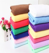 14 Colors Water Absorbent Towel Swim Washcloth Bath Towel Micro Fiber Drying Beach Towel Solid Eco-friendly Soft and Comfort(China)