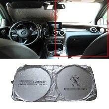 цена на Car Front Windshield Sunshade Accessories For Peugeot 307 308 407 206 207 3008 406 208 2008 508 408 306 301 106 107 607 4008 500