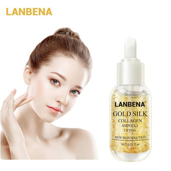 LANBENA Gold Collagen Serum Hyaluronic Acid Snail Face Serum Nicotinamide Serum Face Whitening Moisturizing Anti Aging Skin Care gold caviar collagen serum