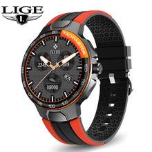 LIGE New Smart Watch Men Heart Rate Blood Pressure Monitoring IP68 Waterproof Watches Pedometer Music Control Weather Smartwatch