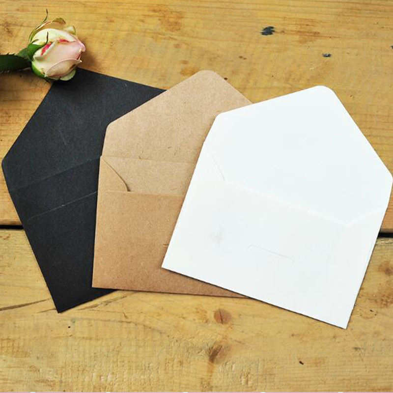 1 Pcs Black White Craft Paper Envelopes Vintage European Style Envelope For Card Scrapbooking Gift Classic Simplicity