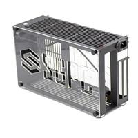 K55 Alle Aluminium A4 Chassis Kleine Desktop-Computer Fall Unterstützt i7 11700 RTX3080 SFX NETZTEIL HTPC Mini Itx PC