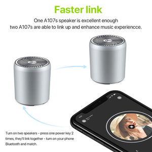 Image 5 - EWA A107S 스피커 휴대용 블루투스 금속 HIFI 미니 스피커 TWS 무선 MP3 음악 플레이어 강력한 사운드 SD 카드 재생 스피커