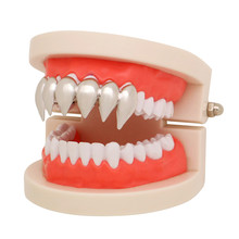 Fashion Gold Teeth Grills Top & Bottom Dental Mouth Party Tooth Bling
