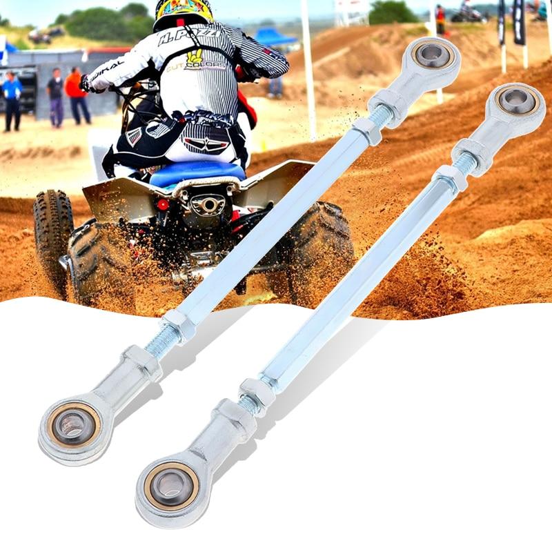 2PCS Upper Lower Ball Joints Steering Inner Tie Rod Ends Fit For ATV Four Wheeler Quad Go Kart