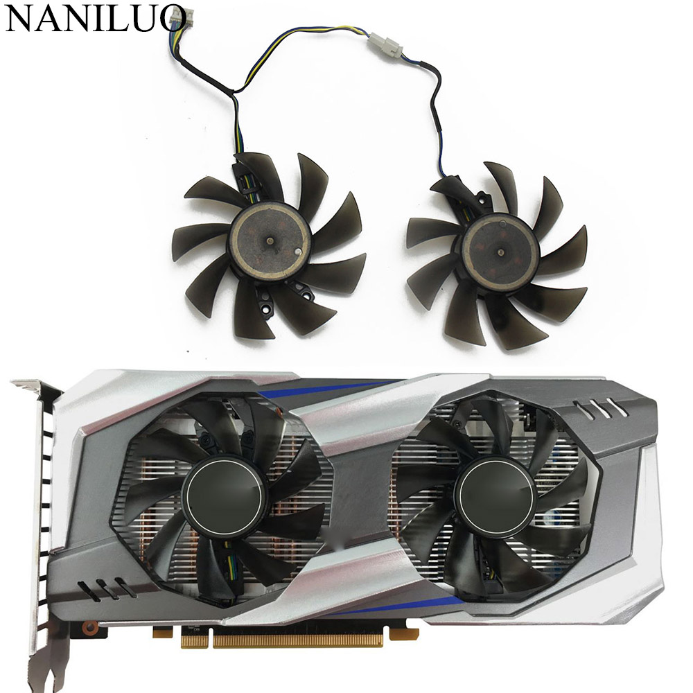 2PCS/lot P106 GA82S2H For GALAX GTX1060 Cooler Fan For KFA2 GeForce GTX 1060 OC Graphics Cards As Replacement Fan