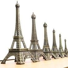 5cm 15cm 38cm Artesanía de metal del hogar Vintage bronce París Torre Eiffel Tour estatua de aleación modelo de decoración del hogar recuerdos de viaje regalos
