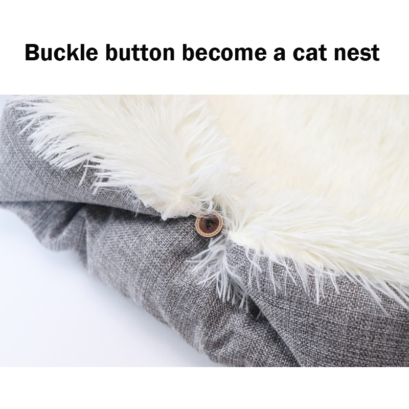 Petshy Cat Bed House For Pet Plush Sleeping Pad Cushion Puppy Small Dog Cats Kennel Nest Sofa Cat Dog Bed Kennel Pet Supplies