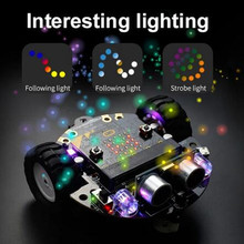 DIY Programming Remote Control Smart Robot Car 2WD RC with Micro:bit Board Electronic Programmable Education Learning Gift