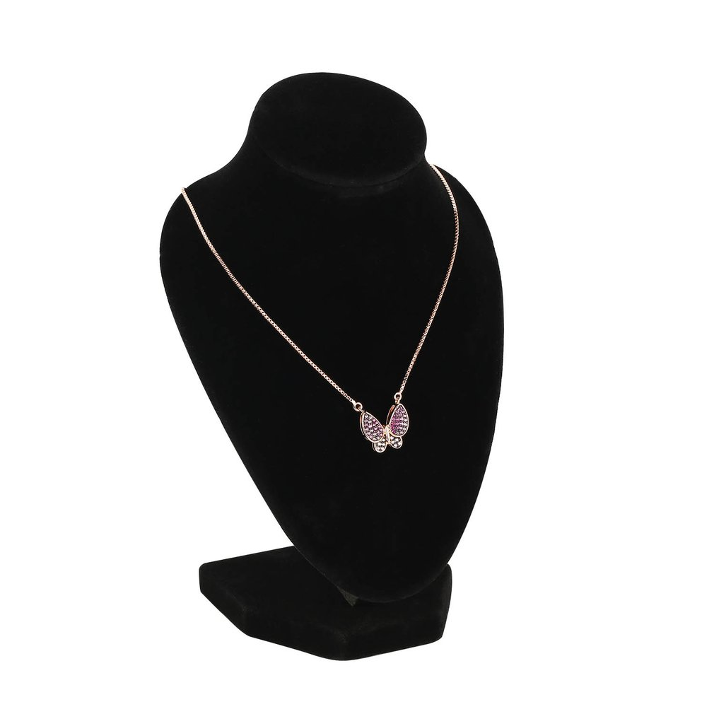 1pcs 10*15cm Women Lady Girl Black Velvet Body Necklace Display Pedestal Jewelry Chain Holder Bust
