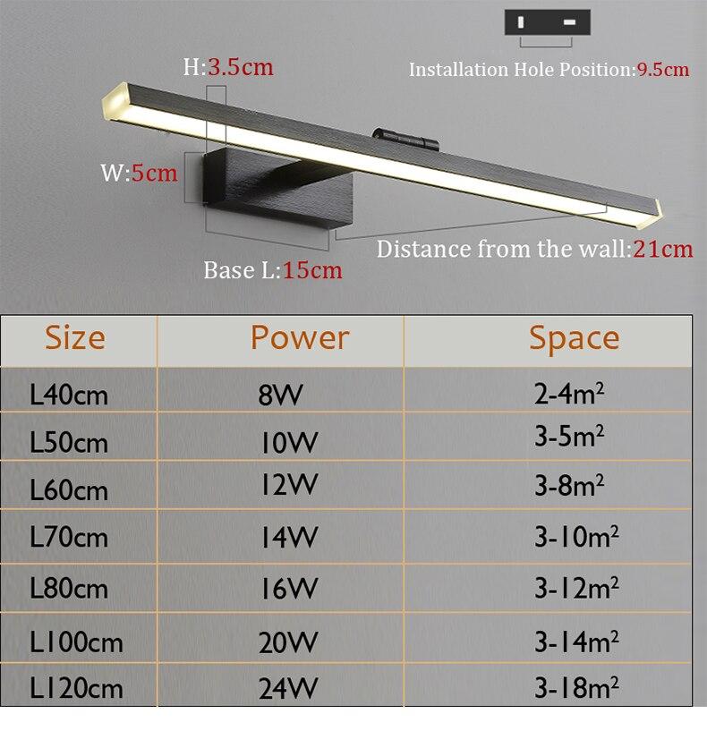 Lámpara LED para baño - sala de estar - frontal espejo 220V