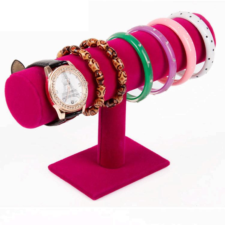 15x23cm T Shape Velvet Bracelet Bangle Necklace Jewelry Display Stand Holder Jewelry Organizer For Bracelet Choker Rack Elegant