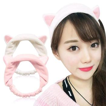 Cute Cat Ears Headband Women Cute Yoga Makeup Elastic Turban Hair Hair Band Band Head Women Knotted Accessories Girls Headb P4A4 image