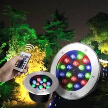 цена на RGB Remote Control Underground Light 12V 85-265V 3W 6W 9W 12W 15W 18W 24W 36W LED Buried Lamp Terrace In-ground Floor Lights