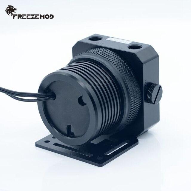 FREEZEMOD domestic D5 pc water cooler pump metal armor set magnetic suspension PWM RGB AURA water cooling. PU GPD5