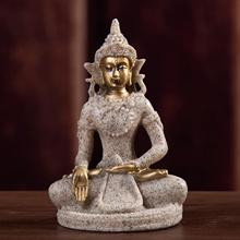 Buddha Statue in Meditation Pose for Home Decor - Made with Natural Stone and Durable Sandstone Bring Peace and Harmony