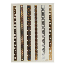 Новая Временная металлическая Татуировка Золото Серебро Черный Вспышка татуировки Вдохновленный лист 20x15 см