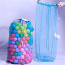 Durable Organizer Bag Foldable Mesh Net Bags Portable Kids Ball Storage Net Bag Multi-Purpose Toys Organizer Large Capacity