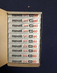 Venta al por mayor 1 Uds raro MaxMX 60 minutos auténtica posición de Metal grabación cinta de casete de Audio en blanco