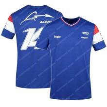 Nuevo 2021 España alpino F1 equipo Motorsport Alonso coche de carreras camiseta de Fans azul negro transpirable Jersey camisa de manga corta ropa