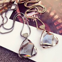The new high-grade alloy with crystal owl fox geometric fashionable woman necklace jewelry