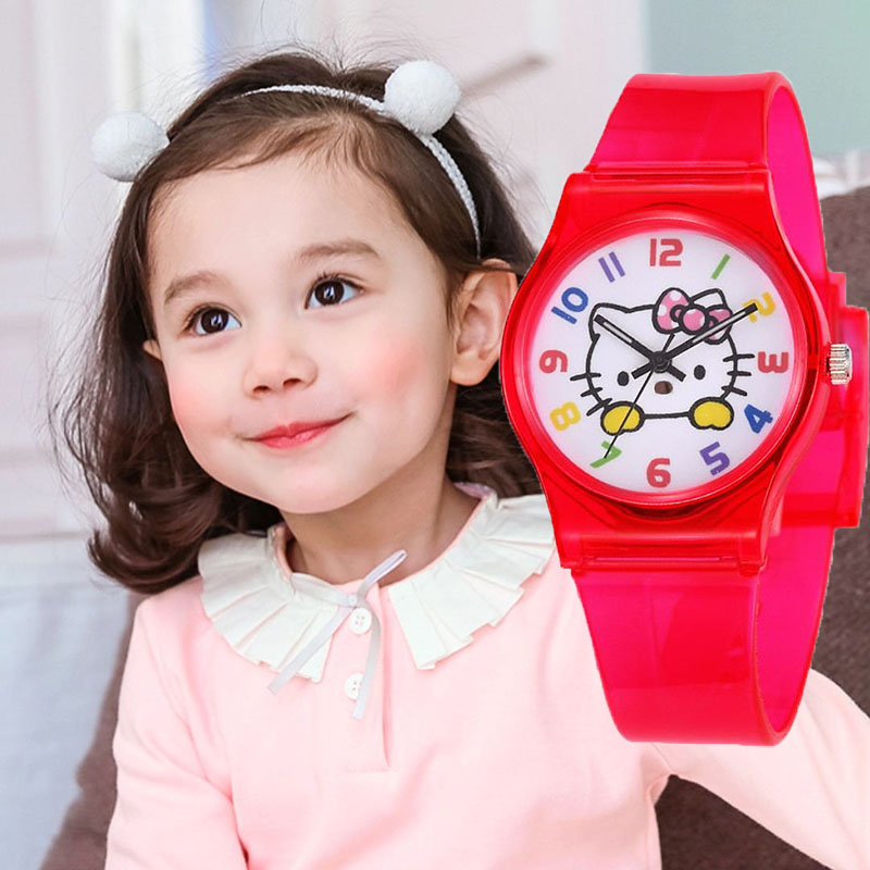 Kids Watches Girls Watch Kids In Children's Watches Jelly Silicone Quartz Clock Relogio Infantil Feminino Livraison Gratuite