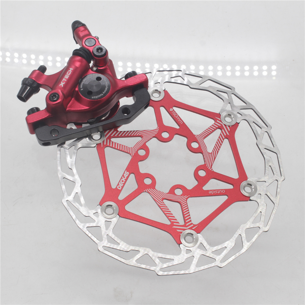 ZOOM XTECH HB100 MTB Line Pulling Hydraulic Disc Brake Calipers with Rotors 20
