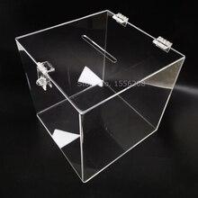 Прозрачный ящик для предложений с застежкой акриловые свадебные карточки коробка для хранения